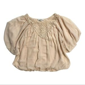 FOREVER 21 FLOWY LIGHT PINK BLOUSE